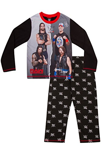 Pijama infantil (6-12 años) con diseño de WWE World Wrestling Entertainment  Negro negro 10-11 Años