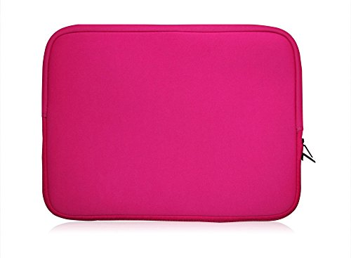 Sweet Tech Pink Neoprene Case Cover Sleeve Suitable for Polaroid 11.6 Inch HD Tablet with Detachable Keyboard (11.6-12.5 inch Laptop)