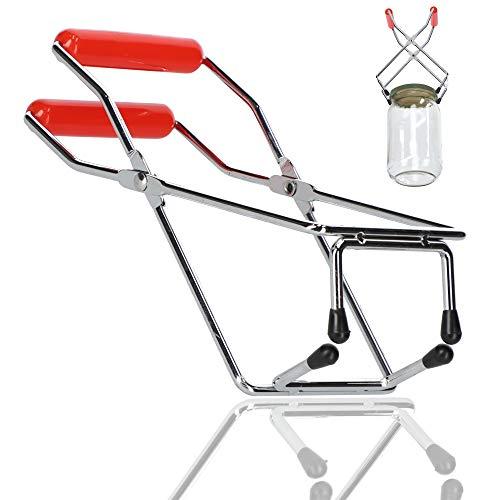 KADAX Einmachglas-Zange, Stahlzange, Glasheber für heiße Einkochgläser, Zange für Herausholen, Einwecken, Auskochen, Einmachglas-Heber (Plastikgriff)
