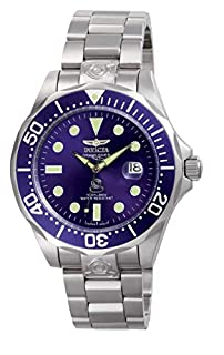Invicta 3045 Pro Diver Men's Wrist Watch Stainless Steel Automatic Blue Dial (B000FVE3AC) | Amazon price tracker / tracking, Amazon price history charts, Amazon price watches, Amazon price drop alerts