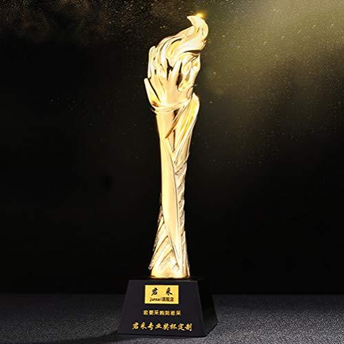 GYFSLG Premios De Los Trofeos De La Antorcha, Concursos para Competiciones En Eventos Deportivos, Proceso De Metalizado, Texto Personalizable, 29 * 8 Cm