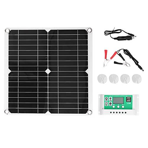 Kit de panel solar, cargador de panel Olar Alta eficiencia de conversión Buena eficiencia de salida para ciclismo al aire libre Montañismo, senderismo, camping, viajes