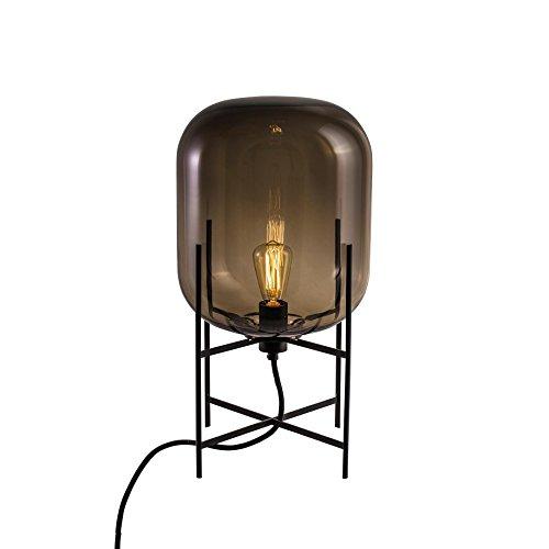 Pulpo Oda - Lámpara de mesa (tamaño pequeño), color gris y negro