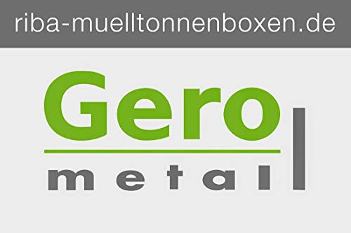 Mülltonnenhaus, Müllbox, Mülltonnenbox Metall, Müllbehälterverkleidung, - 3