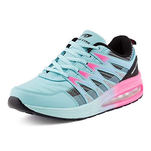 Fusskleidung Herren Damen Sportschuhe Sneaker Dämpfung Laufschuhe Übergröße Neon Jogging Gym Unisex Blau Schwarz Pink EU 38
