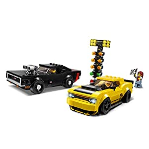 Amazon.co.jp - レゴ スピードチャンピオン 2018 ダッジ・チャレンジャー SRT デーモンと 1970 ダッジ・チャージャー R/T 75893