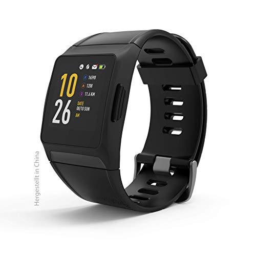 swisstone SW 700 Pro Fitnessarmband (Full-Touch-Display, GPS, 17 Sportarten, Unisex-Größe) schwarz