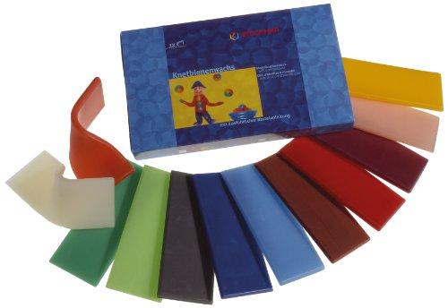 Stockmar 51200 - Knetbienenwachs, 100 x 40 mm, 12 Farben