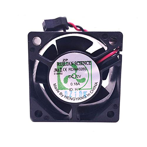 SCYHGLM Computer Server Silent Fan for RDM4028S 4cm 12V 0.18A 2Wire,Chassis Power Fan RDM4028S 40x40x28mm 2Wire