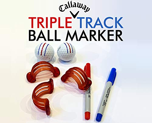 Callaway Triple Track Golf Ball Line Marker Stencil Chrome Soft ERC Odyssey