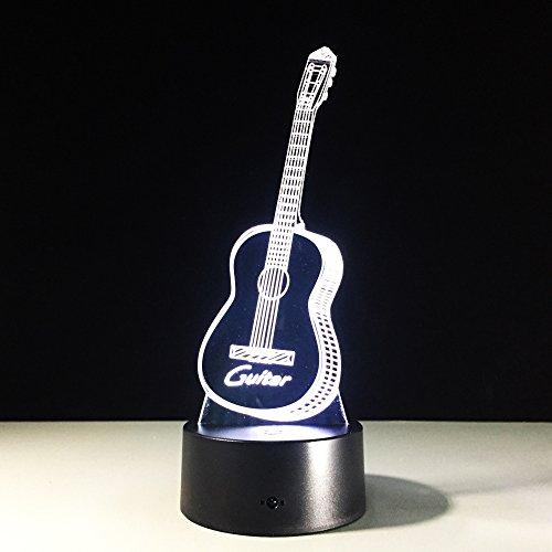 3D illusie Light Optical Musical Viool Instrument,7 kleurverandering LED nachtlampje voor nachtkastje, slaapkamer, huis, decoratie, kerstcadeau, verjaardag voor kinderen
