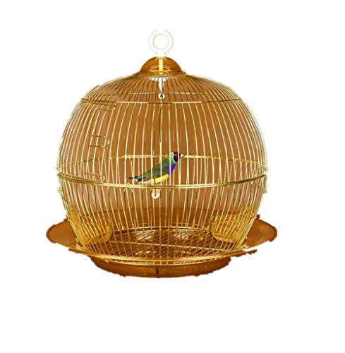 MJBABY Peony Parrot Xuanfeng Starling Myna Tiger Tiger Villa Large Round Metal Hanging Luxury Parrot Bird Cage