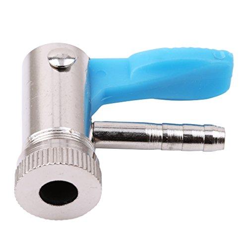 Yinew 6 mm / 8 mm Auto-Reifenfüller Ventil-Anschluss mit Messingklemme, Kupfer, siehe abbildung, 6 mm