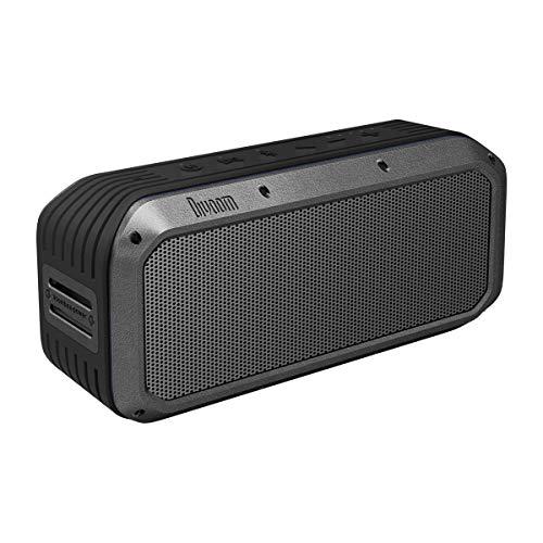 Divoom Voombox-Power Tragbarer, ultra-robuster und IPX6-wasserdichter Bluetooth-Funklautsprecher mit USB-Aufladung und Freisprechfunktion Farbe Schwarz