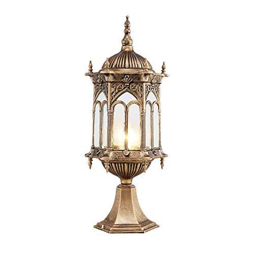 J-Love Poste lámpara jardín Luces Europa Linterna Pilar Tradicional Decoración luz Garaje Pabellón Lámpara Columna Lámpara Pedestal Piso para Valla Villa