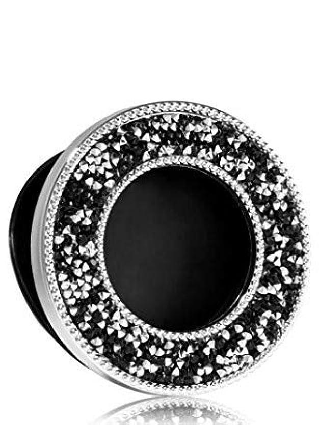 またね肉屋ビール【Bath&Body Works/バス&ボディワークス】 クリップ式芳香剤 セントポータブル ホルダー (本体ケースのみ) ブラック&シルバー ラインストーン Scentportable Holder Black & Silver Rhinestones [並行輸入品]
