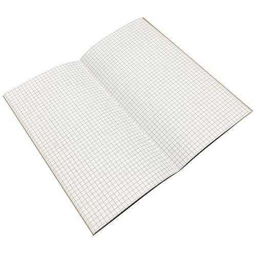 クラフトノート 方眼 日付 フリー 手帳 メモ 帳 予定 管理 やること チェック 項目 ノート (白 方眼紙)