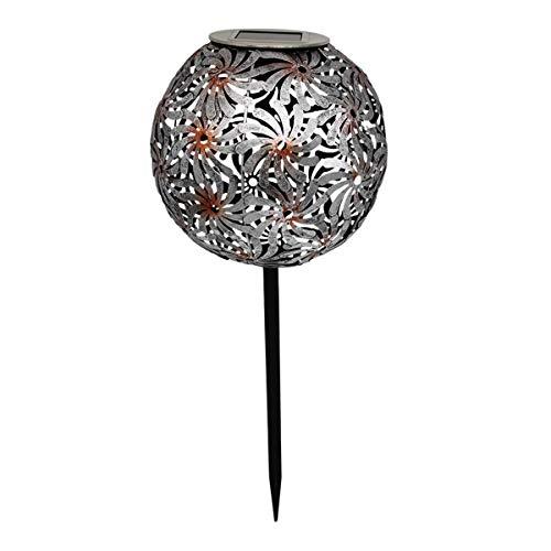 Solarleuchte, dekorativ, Metall, silberfarben, mit Erdspieß LED, Warmweiß, Windy, Höhe 43 cm