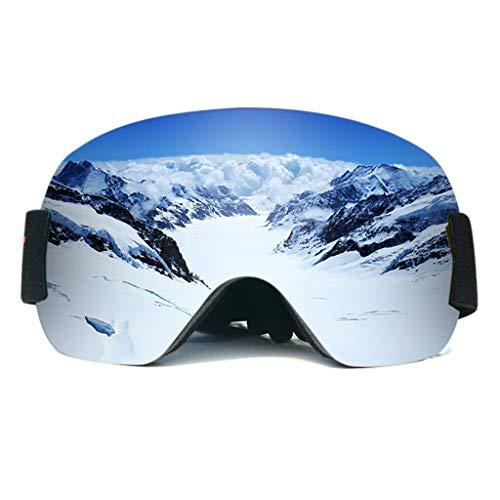 Skibrille Damen und Herren Snowboardbrille Doppel-Objektiv OTG UV400 Schutz Anti-Beschlag Winddicht Ski Schutzbrille Helmkompatibel für Skifahren Motorrad Fahrrad Skaten