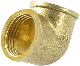 eDealMax latón ángulo Recto del codo igual Conector del tubo acoplador de montaje DE 1/