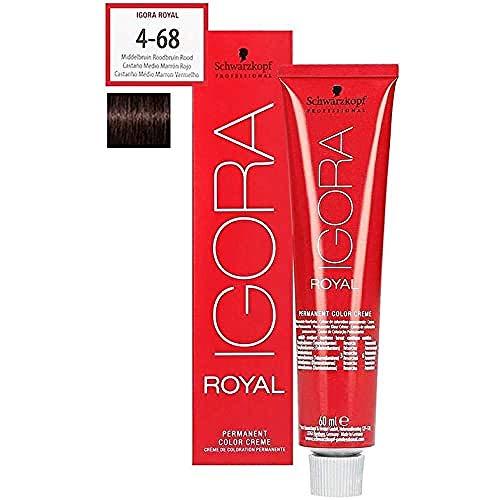 Schwarzkopf IGORA Royal Premium-Haarfarbe 4-68 mittelbraun schoko rot, 1er Pack (1 x 60 g)