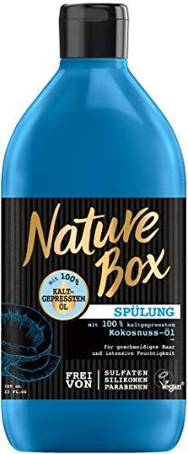Nature Box Haar Spülung Mit Kokosnuss-Öl 385ml Strapaziertes Haar Ohne Silikone