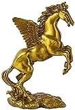 FXBFAG Flying Angel Horse Chinese Zodiac Brass Room Decor Decoraciones Regalos Adornos Esculturas Estatuas Pegasus Home Office Mesa Top Animal Escultura Decorativa Regalo Feng Shui Colección