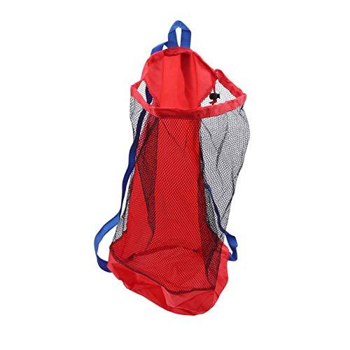 AIHOME Bolsa de red de almacenamiento de juguetes de playa, mochila de juguete reutilizable portátil durable de los niños bolsas de malla