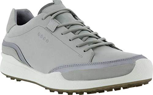 ECCO Men's Biom Hybrid Hydromax Water-Resistant Golf Shoe, Concrete/Silver Metallic/Concrete, 11-11.5