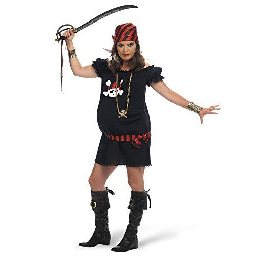 Limit Piratin Kostüm Klassiker für Schwangere Umstandsmode 2-teilig Kleid mit Kopftuch - S