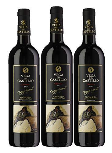 Vega del Castillo Crianza - Vino Tinto - DO Navarra - Pack de 3 botellas 750ml - Total 2250ml