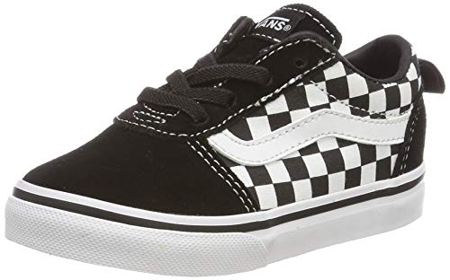Vans Unisex Kinder Ward Slip-ON Canvas Sneaker, Schwarz ((Checkers) Black/True White PVC), 21 EU
