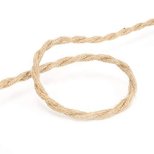 XiangXin Cable eléctrico, Cable eléctrico de Cuerda de cáñamo Vintage, Salas de...