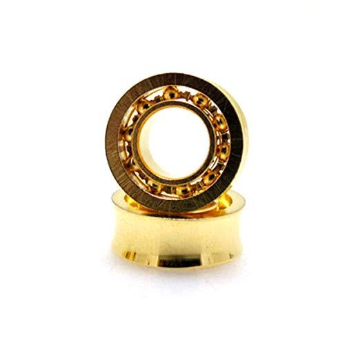 Max-Tonsen Juguetes pequeños para niños, 6 Piezas R188Kk Ur188 bañado en Oro para Fidget Spinner Yoyos Fan