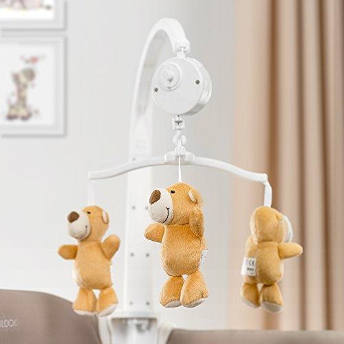 Hauck Baby-Reisebett Babycenter Zoo - inkl. Neugeborenen-Einsatz, Wickelauflage, Spielbogen mit Spieluhr, Utensilienablage, Rollen, Matratze, Tragetasche (höhenverstellbar & faltbar) - 9