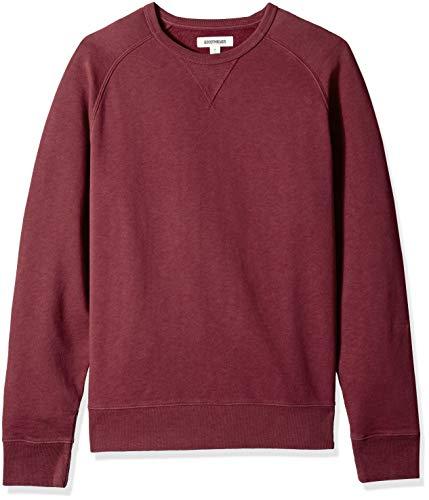 Amazon Brand - Goodthreads Men's Crewneck Fleece Sweatshirt, Burgundy, X-Large Tall