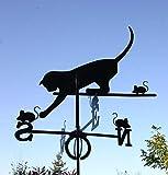 Wetterfahne Katze in schwarz - von SvenskaV