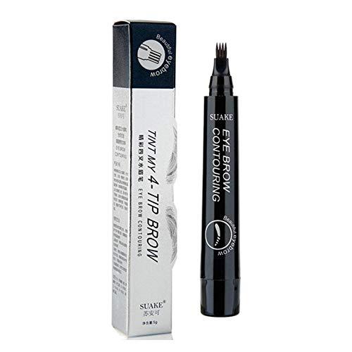 4 Gabelspitzen Microblading Augenbrauen Tattoo Farbstoff Tönung Stift Tinte Flüssige Augenbrauenstifte Langlebig, nicht blühend Wischfest Wasserdicht Schweißfestes Brauen Make-up