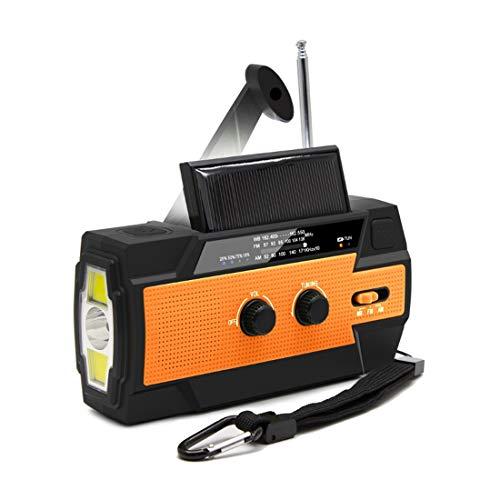 【LEAP】防災ラジオ 非常用照明器具 手回し充電 USB充電 停電緊急対策 スマホ充電対応可能 日本語説明書付き (オレンジ)