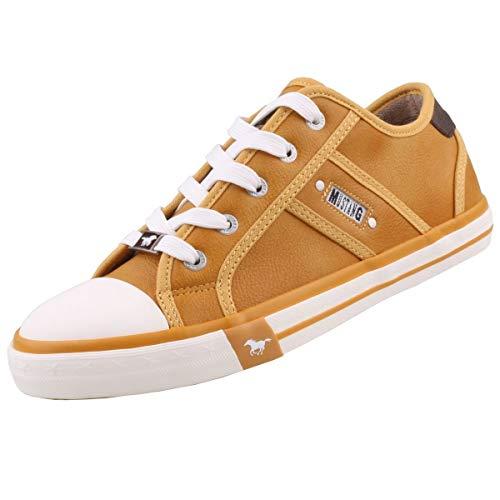 MUSTANG Damen 1209-301 Sneaker, 6 Gelb