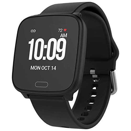 iConnect by Timex Active Smartwatch with Heart Rate, Notifications & Activity Tracking 37mm – Black with Black Resin Strap