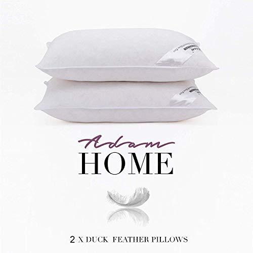 Adam Home Duck Feather Soft-Support Pillow + free Rich Cotton Pillowcase