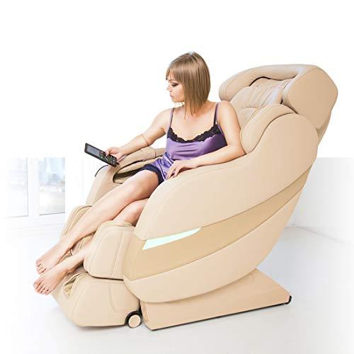 GESS Rolfing Ganzkörpermassagesessel, Fernbedienung, L-förmiger Massagesitz, 8 Typen Rollenbewegungen, Wärme, Luftdruck, 3D-Shiatsu, Schwerlosigkeit