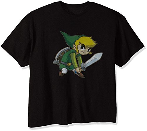 Nintendo Men's Big Link T-Shirt, Black, XXX-Large