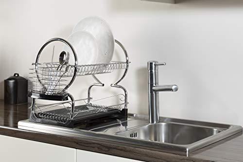 Premier Housewares - Escurridor de Platos de 2 Pisos (con Bandeja ...