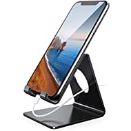 Lamicall Cell Phone Stand, Phone Dock: Cradle, Holder, Stand for Office Desk - Black