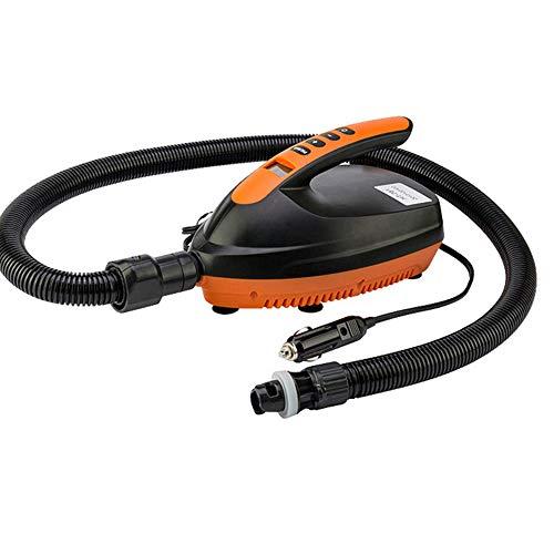 Roeam Elektrische Luftpumpe, Intelligente 20 / 16PSI 12V Hochdruckpumpe mit 6 St. Düsenpumpe für Stand Up Paddleboard, Kajak, Aufblasbare Zelt & Pool