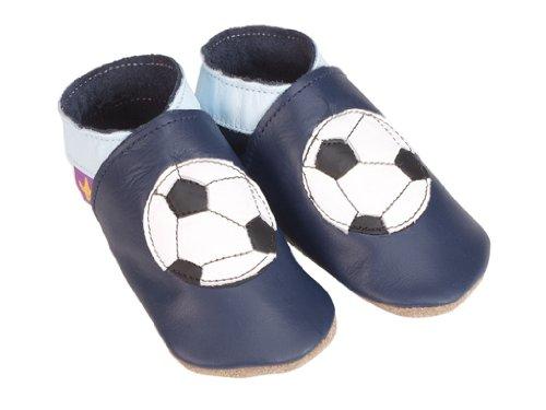 Football navy starchild weiche lederne Babyschuhe (Medium 6-12 monate EU 20 UK 3)