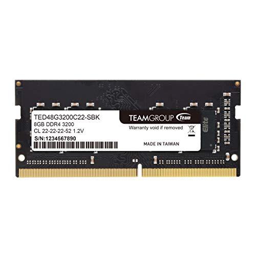 Team ノートPC用 SO-DIMM DDR4 3200MHz PC4-25600 8G 無期限保証