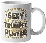 dio essere sexy, ma io 'sono un suonatore di tromba, quindi non posso' farne a meno. Divertente tazza da caffè e tè per musicisti, compositori, artisti, appassionati, cantanti, musicisti, solisti, don